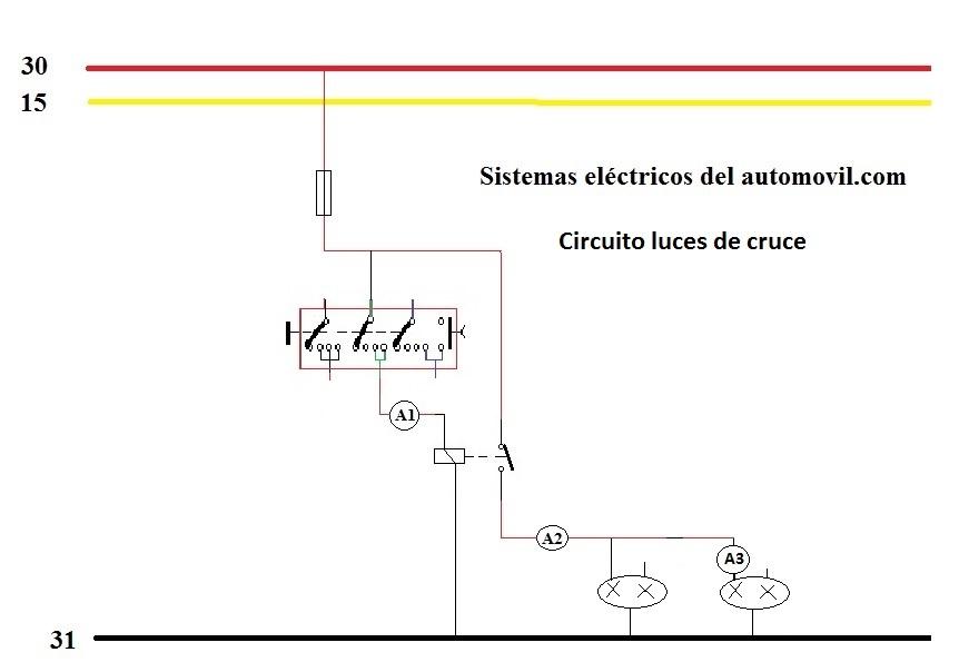 circuito de luces de cruce