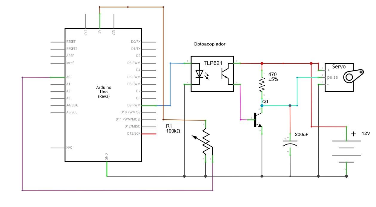 Esquema electrico arduino servo faro 3