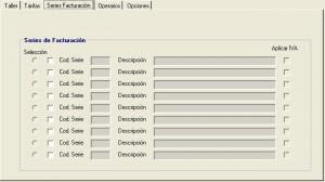 configuración series facturación