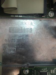 Numeros de serie 2 calculador gestion alta tensión