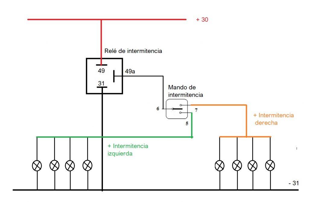 Circuito básico de intermitencia. Funcionamiento,
