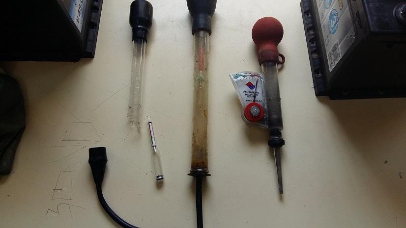 Tipos de densímetros o hidrómetros