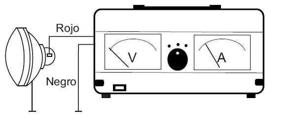 voltioamperimetro tensión faros