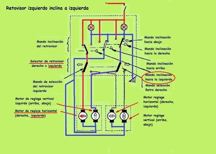 Espejos retrovisores eléctricos Retro izq izq