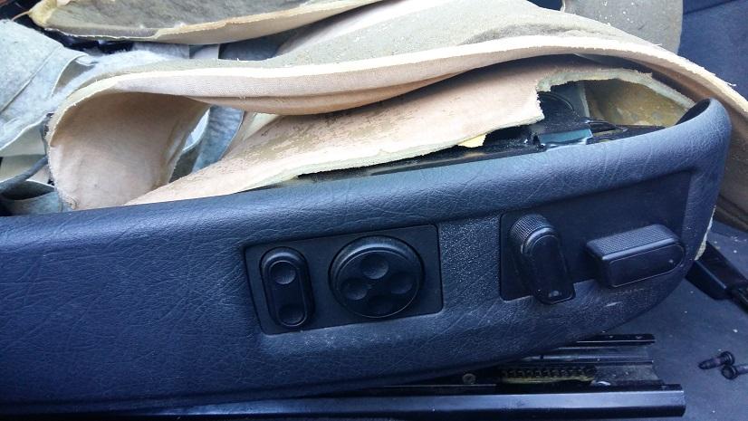 Botonera de control de asiento eléctrico