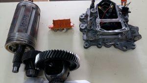 Motor eléctrico zoe. Detalle de despiece
